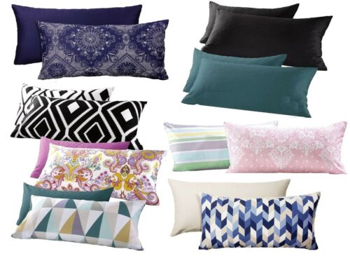Meradiso Renforcé Reversible Cushion Cover 2er Pack 40x80 cm 100/%Cotton Soft