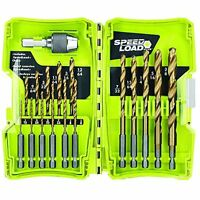 Ryobi Speedload+ Tin Drill Bit Set (17-piece) -discontinued, New, Free Shipping on sale