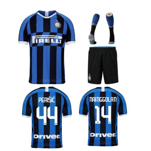 19//20 Football Jersey Soccer Kits Team Club Adult//Kids Short Sleeve Outfits+Sock