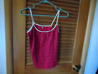 Ladies Red Leopard Print Cami Size Xl (junior) By Dangerous Duds