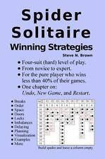 Spider Solitaire Winning Strategies by Steve N. Brown (2016, Paperback)