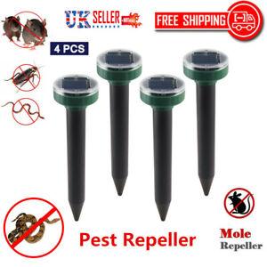4pcs-Ultrasonic-Solar-Mole-Rat-Garden-Sensor-Animal-Snake-Scarer-Pest-Repeller