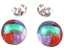 Tiny-DICHROIC-Post-EARRINGS-1-4-034-10mm-Clear-Gold-Red-Purple-Fused-GLASS-STUDS thumbnail 2
