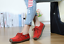 Leather Women Slip on Moccasin Loafers Driving Walking Casual Lace Up Flat Shoes