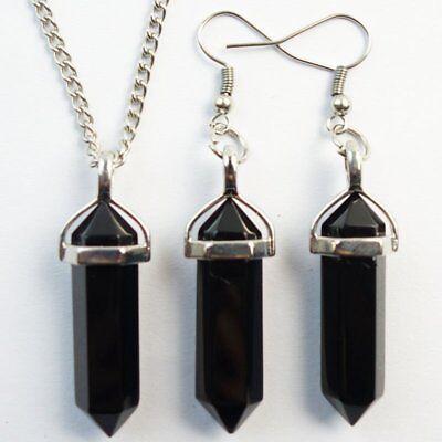Fashion Lapis Lazuli Pendulum Earring /& Necklace Set JC729
