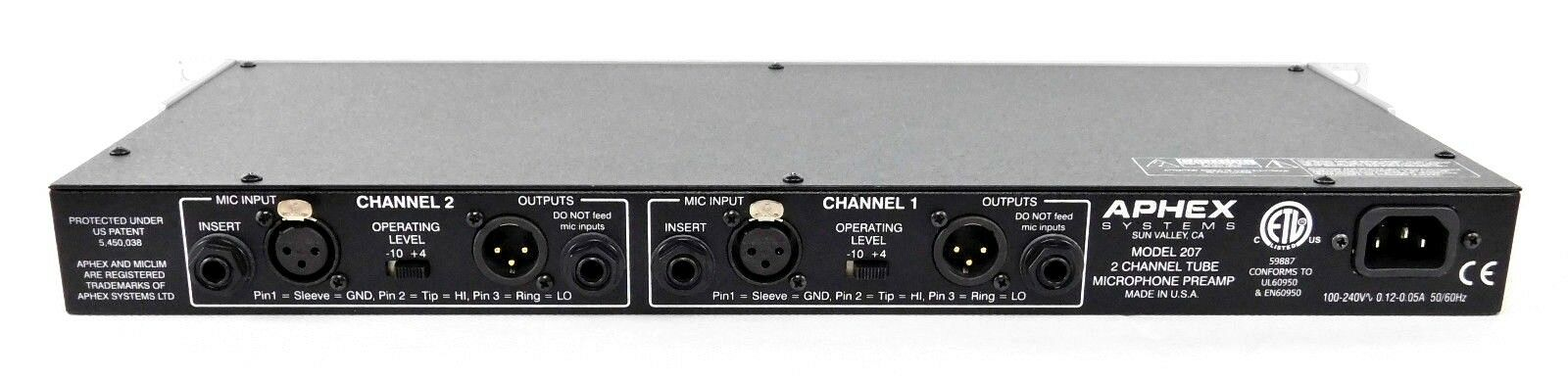 Aphex 207 207 Aphex dual Tube MIC preamp tubos preamp made in usa + factura & garantía c99a20