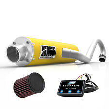 HMF Performance Full System Exhaust Pipe Yellow + EFI Optimizer + K&N DS 450