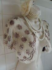 FOREVER 21 Vintage 1920s Sequin Deco Charleston Flapper Gatsby Shrug Bolero Cape
