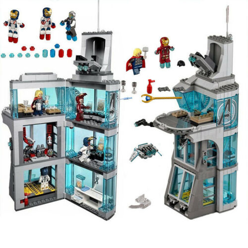 511pcs Attack on Avengers Tower Marvel Super Heroes Building Blocks With Figures