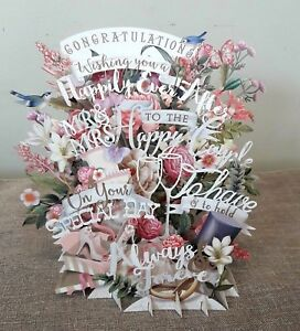 Auguri Matrimonio Non Presenti : Biglietto dauguri 3d pop up matrimonio wedding biglietti auguri