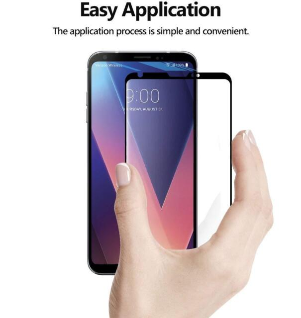 Poetic [Full Coverage] Tempered Glass Screen Protector For LG V30 (2017) Black