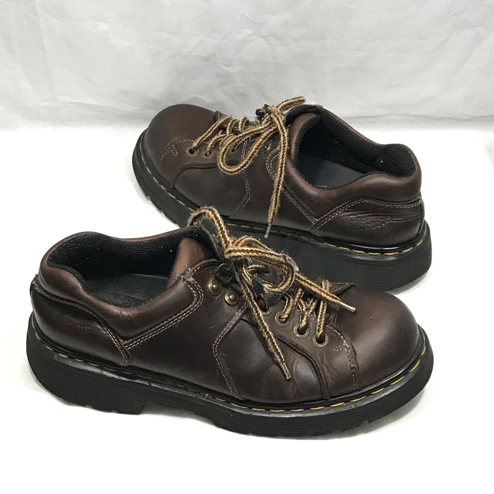 Dr Martens Brown Leather Lace Closure Ankle Boots shoes US 10 ENGLAND
