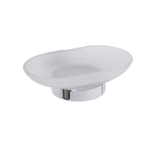 Seifenhalter 130x50x125mm Messing Milchglas Chrom Badartikel Zubehör Lagerdeal