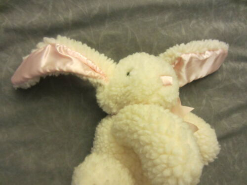 North American Bear EASTER BUNNY RABBIT 1989 WHITE PINK SATIN EARS EGGCREAM 10""