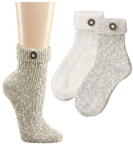 naturmelange Landhaussocken 2 Paar Damen und Herren Trachten-Socken