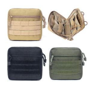 Tactical Molle Utility EMT Pocket EDC Tool Bag Organizer Admin Pouch