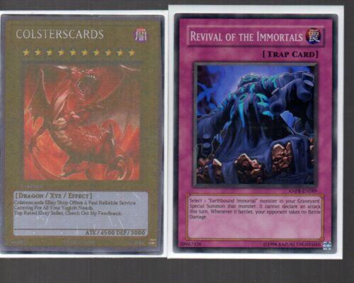 Yugioh Card Super Rare Holo Revival Of The Immortals ANPR-EN089