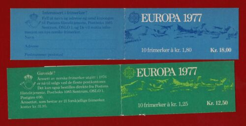 1977 Norway Europa booklet SG 7956 Set of two