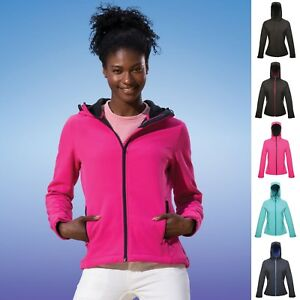 Ladies-Womens-Regatta-Softshell-Hooded-Jacket-Coat-Leisure-Work-Hood-Soft-Shell