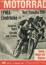 M6819 + Test YAMAHA YDS 5-E 250 ccm + IFMA-Eindrücke 1968 + Das MOTORRAD 19/1968