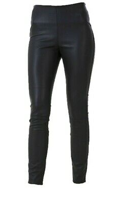 New Look Waist Side Zip Leather Look Leggings Trousers Size 6-14 C12