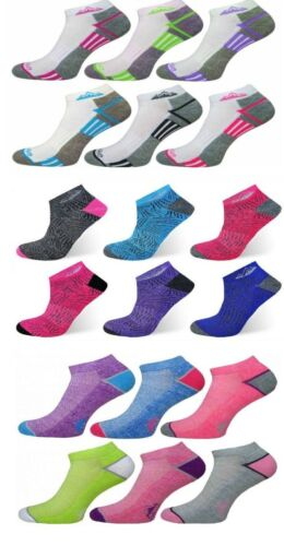 6 Pairs Ladies Cushioned Sole Trainer Liner Sports Socks Running Gym Hiking 4-8