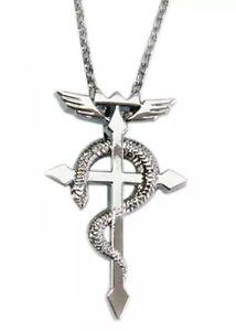 Fullmetal Alchemist Anime Cross Necklace Pendant Alloy 2.5 ...