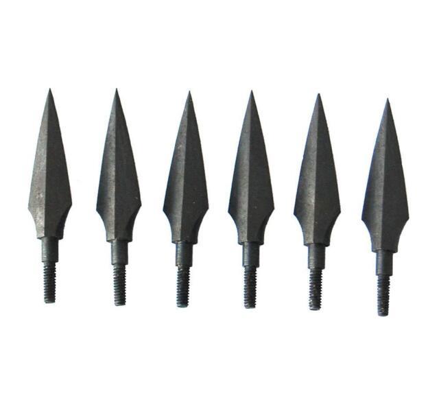 6pcs Metal Sharp Broadheads Hunting Archery Arrow Heads Carbon Bows 125 Grain