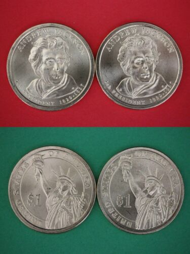 2008 P D Andrew Jackson Presidential Dollars From BU Mint Set Combined Shipping