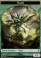 10X 1/1 Green Plant Token (10/14) NM Battle for Zendikar MTG Magic Grovetender