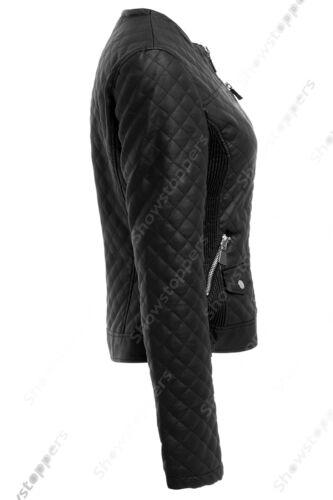 Taille De 10 8 14 Motard Veste 12 Cuir Femmes Simili Nouvelle Womens Jabot CYpCqnr5dw