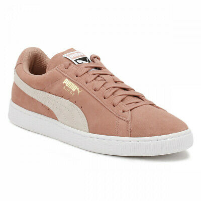 Puma Suede Classic Cameo Brown White Pink 355462 56 Womens Casual Sneakers | eBay