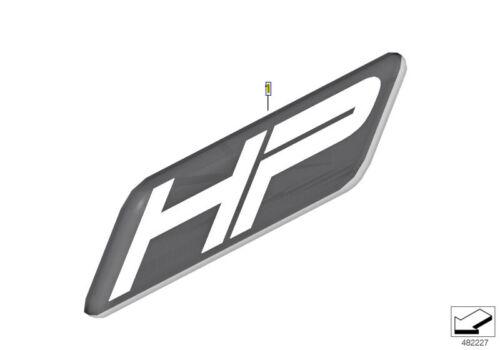 """BMW Motorrad /""""HP/"""" Etiqueta Adhesiva insignia emblema 9mm 71607708659"""