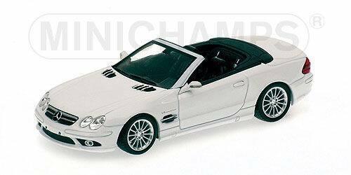Mercedes Classe SL 55 AMG Weiß 2006 1 43 Minichamps