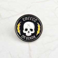 38e7d462141 Death Pin Badge Satan Creep Ghost Skeleton Demon Goth Witch Brooch Lapel  Pins