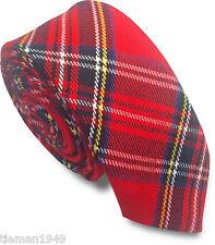 Royal Stewart Tartan Skinny Tie