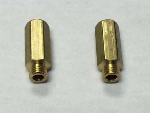 2 PACK HOLLEY QFT AED CARBURETOR BRASS MAIN JET EXTENSION 4150 4160 4500
