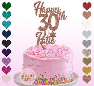 30th-nom-Cake-Topper-Personalised-Custom-Anniversaire-30-trente-21-30-35-40-50-60