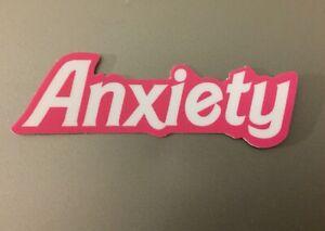 "Anxiety 3"" Vinyl Sticker Barbie Logo Parody Mental Health Awareness Pop Art"