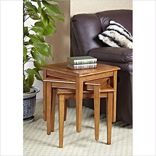 Leick Furniture Favorite Finds Stacking Set Medium Oak Finish End Table |  EBay