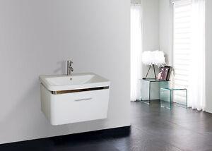 Mobile bagno arredo bagno completo pensile 70 cm bianco laccato