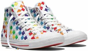 Converse-Chuck-Taylor-ALL-STAR-HI-Top-Pride-Collection-Woven-Rainbow-Sneakers