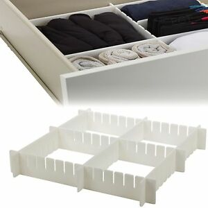 Image Is Loading 6pc Adjustable Drawer Organizer  Many Compartments Storage Kitchen
