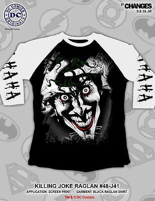 Batman The Joker The Killing Joke Raglan Sleeved T-Shirt NEW UNWORN