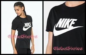 e865880a03b9 Details about NIKE WOMENS NSW SIGNAL LOGO SPARKLY BLACK WHITE RETRO SHIRT  821993 010 SMALL
