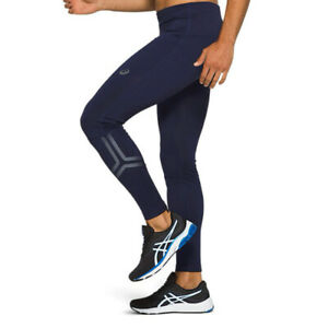 Details about Asics Mens Icon Running Tights Bottoms Pants Trousers Navy Blue Sports