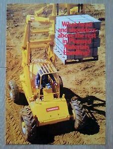 1973 Sambron Matériaux Handler Fork Lift Brochure-afficher Le Titre D'origine Prix De Vente