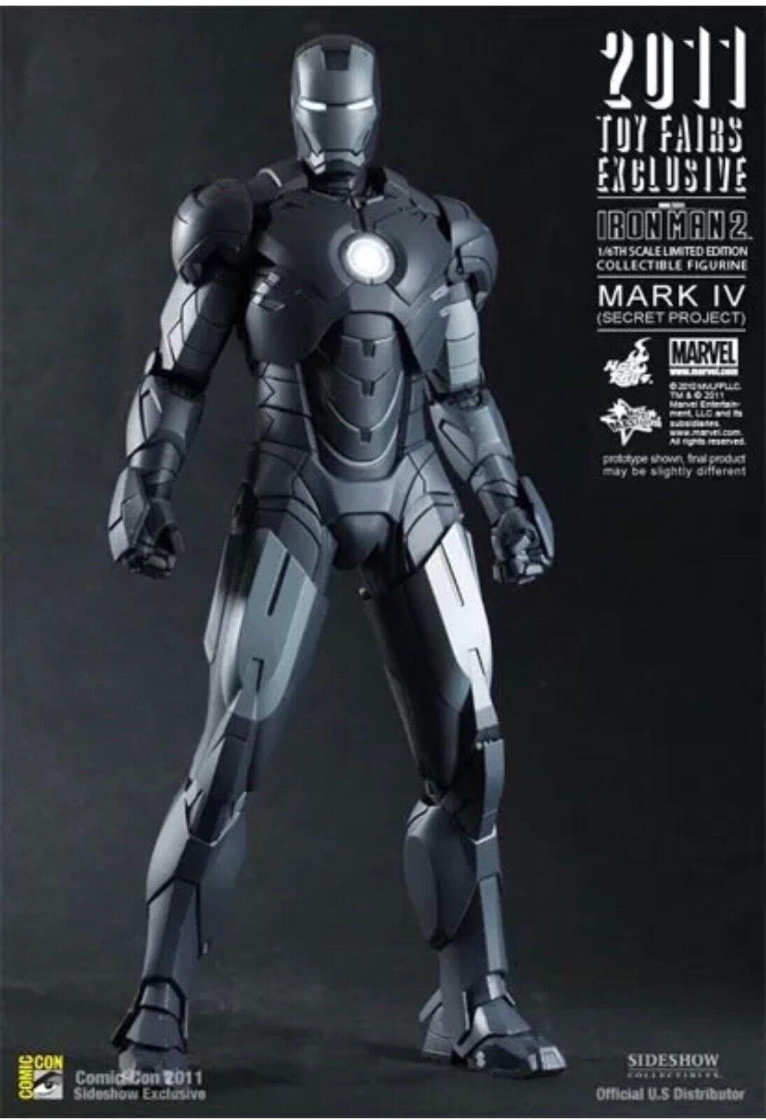 Hot Toys Iron Man Mark IV-Secret Project 1 6 Scale Figure NIB