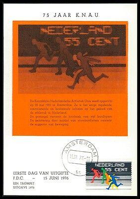 Niederlande Mk 1976 Sport Athletik-union Knau Maximumkarte Mc Cm Bb98