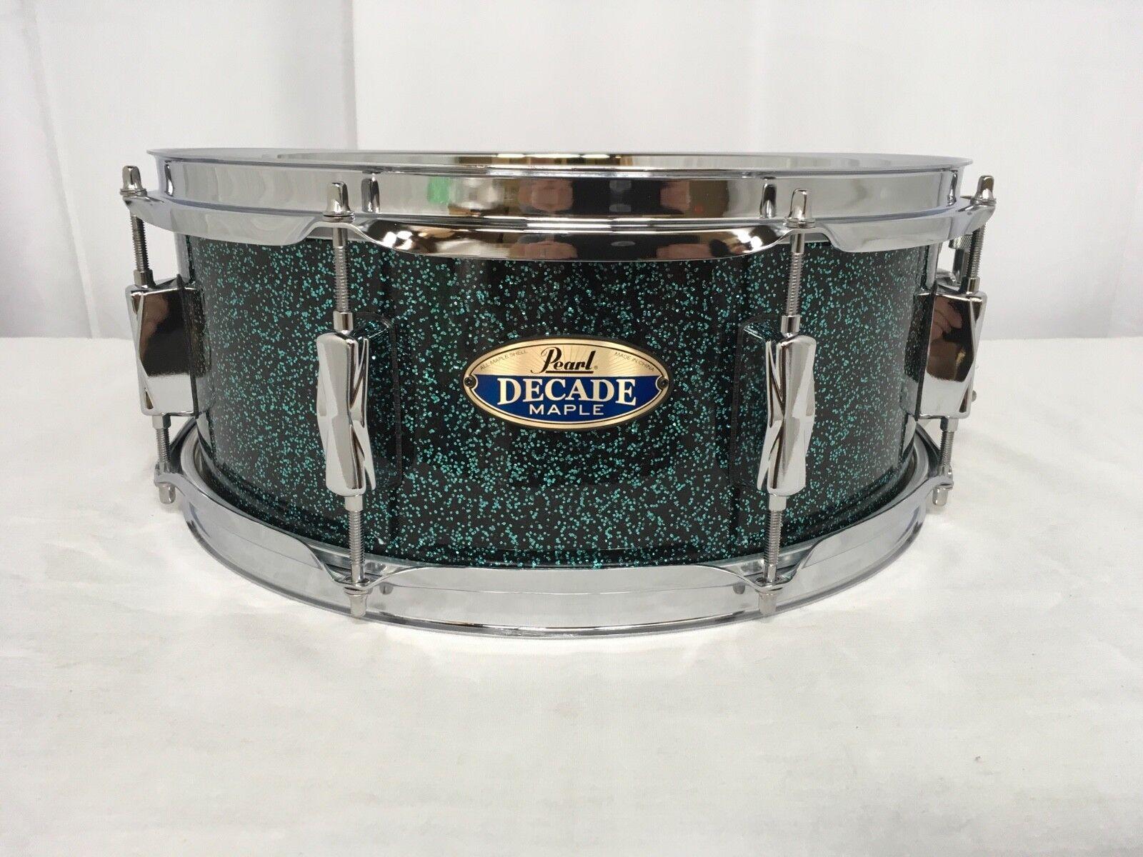 Pearl Decade Maple DMPR 14  Snare Drum Finish  712 Ocean Galaxy Flake Brand New